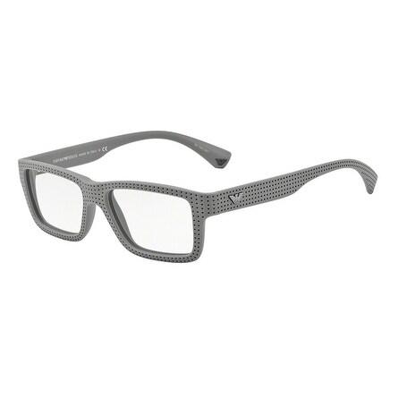 Shop Emporio Armani Men s EA3019 5141 53 Grey Rectangle Plastic Eyeglasses  - Free Shipping Today - Overstock.com - 17961683 534aef573f25