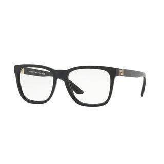 Versace Men's VE3243 GB1 55 Black Square Plastic Eyeglasses