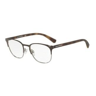 bc610201bd799 Shop Emporio Armani Men s EA1059 3179 51 Matte Brown Gunmetal Oval Metal  Eyeglasses - Free Shipping Today - Overstock - 17961759
