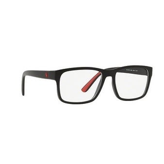 2ba6c6cc84 Shop Polo Men s PH2172 5001 54 Matte Black Rubber Red Rectangle Plastic  Eyeglasses - Free Shipping Today - Overstock.com - 17961812