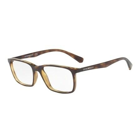 5d9c6a938661 Shop Emporio Armani Men s EA3116 5026 53 Dark Havana Rectangle Plastic  Eyeglasses - Free Shipping Today - Overstock - 17961858