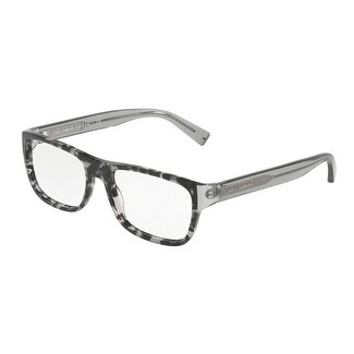 0360f0382a46 Shop Dolce   Gabbana Men s DG3276 3142 52 Havana Black Clear Rectangle  Plastic Eyeglasses - Free Shipping Today - Overstock.com - 17961899