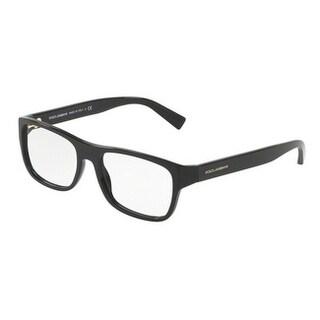 Dolce & Gabbana Men's DG3276 501 54 Black Rectangle Plastic Eyeglasses
