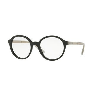 24224093e752 Shop Burberry Women s BE2254F 3001 53 Black Round Plastic Eyeglasses - Free  Shipping Today - Overstock - 17961962
