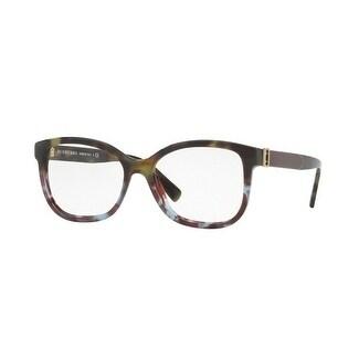 4fa2a27815b2 Shop Burberry Women s BE2252F 3636 54 Green Havana Blue Havana Square  Plastic Eyeglasses - Free Shipping Today - Overstock - 17961995