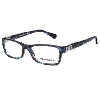 Dolce & Gabbana Women's DG3228 2551 51 Blue Marble Rectangle Plastic Eyeglasses