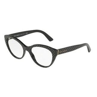 Dolce & Gabbana Women's DG3246 3126 53 Pois White Su Black Cateye Plastic Eyeglasses