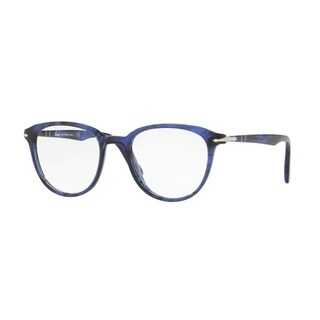 Persol Men's PO3176V 1053 48 Blue Striped Aviator Plastic Eyeglasses