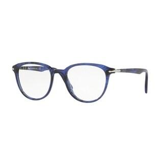 Persol Men's PO3176V 1053 50 Blue Striped Aviator Plastic Eyeglasses