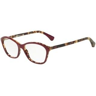 Emporio Armani Women's EA3040 5266 53 Top Purple On Havana Cateye Plastic Eyeglasses