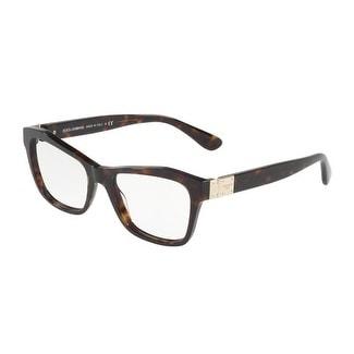 a77e791fe0a Shop Dolce   Gabbana Women s DG3273 502 53 Havana Rectangle Plastic  Eyeglasses - Free Shipping Today - Overstock.com - 17962046