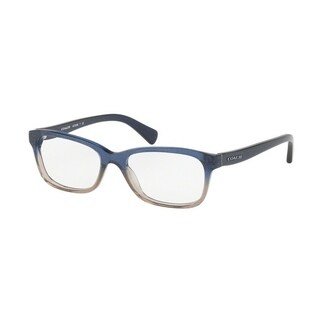 Coach Women's HC6089F 5474 51 Denim Taupe Glitter Gradient Rectangle Plastic Eyeglasses