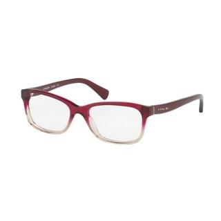 Coach Women's HC6089 5484 51 Red Sand Gradient Rectangle Plastic Eyeglasses