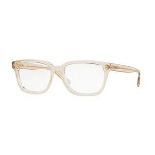 Donna Karan New York Women's DY4678 3735 51 Light Brown Transparent Rectangle Plastic Eyeglasses