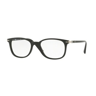 Persol Men's PO3183V 1041 52 Black Rectangle Plastic Eyeglasses