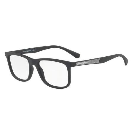 2ac241dadfdf Shop Emporio Armani Men s EA3112 5042 56 Matte Black Rectangle Plastic  Eyeglasses - Free Shipping Today - Overstock - 17962143