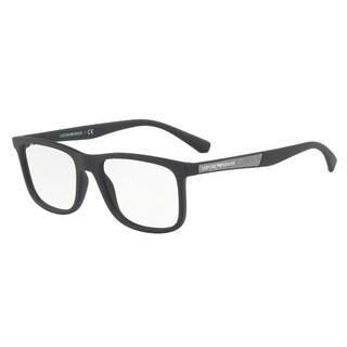 Emporio Armani Men's EA3112 5042 56 Matte Black Rectangle Plastic Eyeglasses