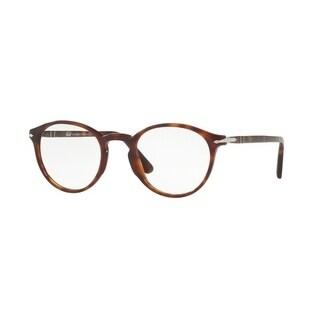 Persol Men's PO3174V 24 51 Havana Rectangle Plastic Eyeglasses
