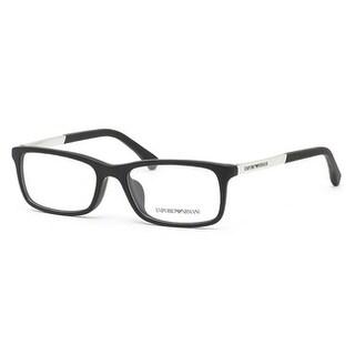 Emporio Armani Men's EA3085D 5042 54 Matte Black Rectangle Plastic Eyeglasses