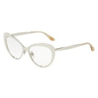 Dolce & Gabbana Women's DG1294 5 54 Silver Cateye Metal Eyeglasses