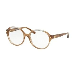 Michael Kors Women's MK4041 3235 51 Brown Floral Round Plastic Eyeglasses