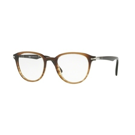 Persol Men's PO3176V 1026 50 Black Gradient/Stripped Brown Aviator Plastic Eyeglasses