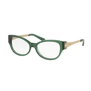 Tory Burch Women's TY2077 1679 53 Bottle Green Cateye Plastic Eyeglasses
