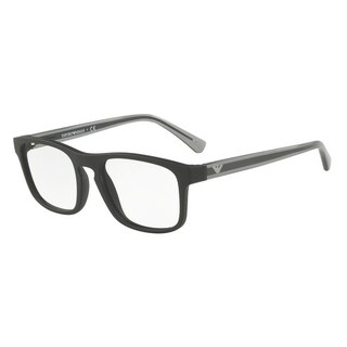Emporio Armani Men's EA3106F 5042 55 Matte Black Rectangle Plastic Eyeglasses