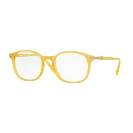 6a7ffeae83 Persol Men  x27 s PO3182V 1048 51 Matte Yellow Rectangle Plastic Eyeglasses