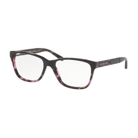 Michael Kors Women's MK4044 3256 52 Purple/Purple Tortoise Square Plastic Eyeglasses
