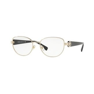 fc33fefad5 Shop Versace Women s VE1246B 1332 52 Pale Gold Oval Metal Eyeglasses - Free  Shipping Today - Overstock - 17962303