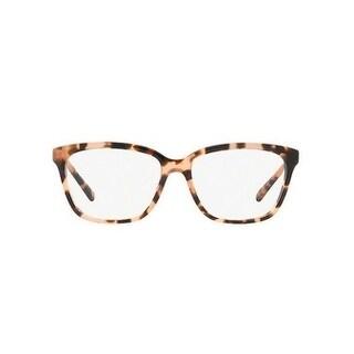 Michael Kors Women's MK8018 3155 54 Peach Tortoise Square Plastic Eyeglasses