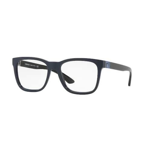 Versace Men's VE3243 5230 55 Blue Square Plastic Eyeglasses