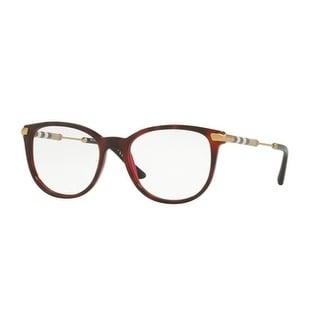 Burberry Women's BE2255QF 3657 53 Top Havana On Bordeaux Square Plastic Eyeglasses