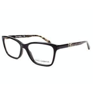 Dolce & Gabbana Women's DG3153P 2688 52 Black Square Plastic Eyeglasses|https://ak1.ostkcdn.com/images/products/17962370/P24138599.jpg?impolicy=medium