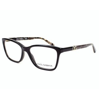 Dolce & Gabbana Women's DG3153P 2688 52 Black Square Plastic Eyeglasses