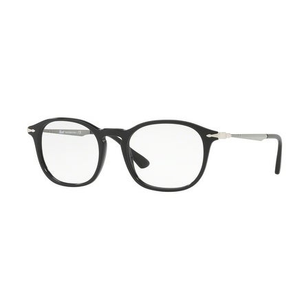 3bc464e27 Shop Persol Men's PO3179V 95 51 Black Rectangle Plastic Eyeglasses - Free  Shipping Today - Overstock.com - 17962382