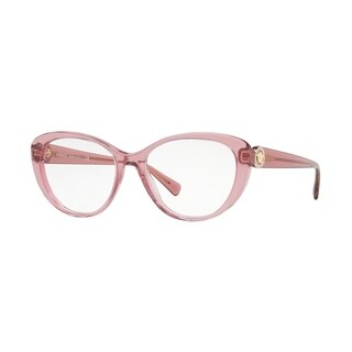 Versace Women's VE3246B 5234 54 Transparent Pink Cateye Plastic Eyeglasses