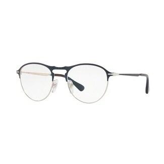 eb7e9a82d0 Shop Persol Men s PO7092V 1073 48 Blu Bronze Square Metal Eyeglasses ...