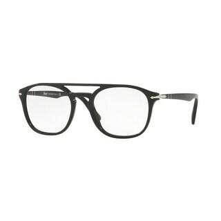 Persol Men's PO3175V 9014 52 Black Rectangle Plastic Eyeglasses