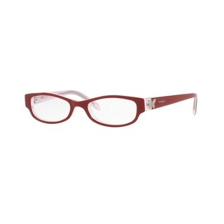 Vogue Women's VO5082 2586 45 Top Red/White/Pink Transp Rectangle Plastic Eyeglasses