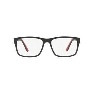 Polo Men's PH2172 5001 56 Matte Black Rubber Red Rectangle Plastic Eyeglasses