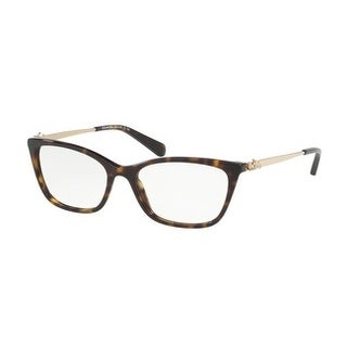 Coach Women's HC6107F 5485 54 Dark Tortoise Rectangle Plastic Eyeglasses