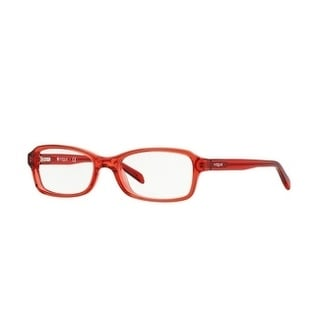 Vogue Unisex VO2882 2111 46 Red Transparent Rectangle Plastic Eyeglasses