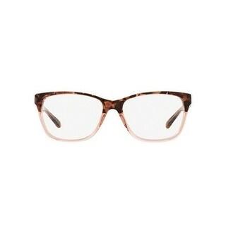Michael Kors Women's MK4044 3251 54 Pink Tort Graphic Square Plastic Eyeglasses