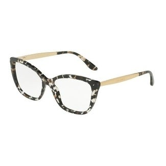 d5f52643826 Shop Dolce   Gabbana Women s DG3280 911 54 Cube Black Gold Cateye Plastic  Eyeglasses - Free Shipping Today - Overstock - 17962633
