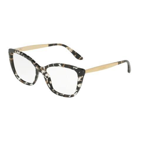 Dolce & Gabanna DG3280 911 54 Cube Black/gold Woman Cat Eye Eyeglasses - Black