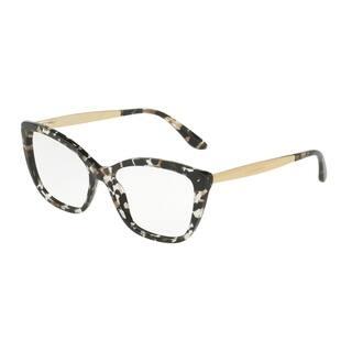 36bfd2bae8d1 Dolce   Gabbana Women s DG3280 911 54 Cube Black Gold Cateye Plastic  Eyeglasses