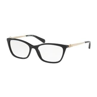41c58600c049 Shop Coach Women s HC6107 5486 52 Black Rectangle Plastic Eyeglasses - Free  Shipping Today - Overstock.com - 17962705
