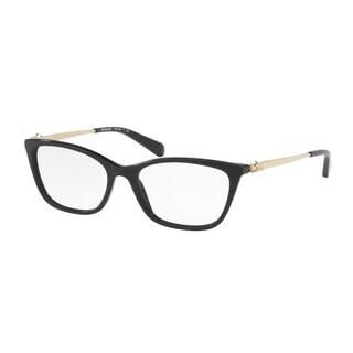 Coach Women's HC6107 5486 52 Black Rectangle Plastic Eyeglasses